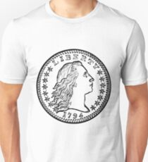 Early American Liberty Coin Unisex T-Shirt