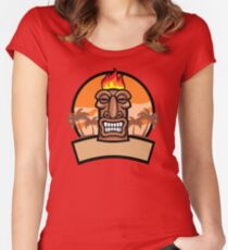 Tiki Vector Women's Fitted Scoop T-Shirt