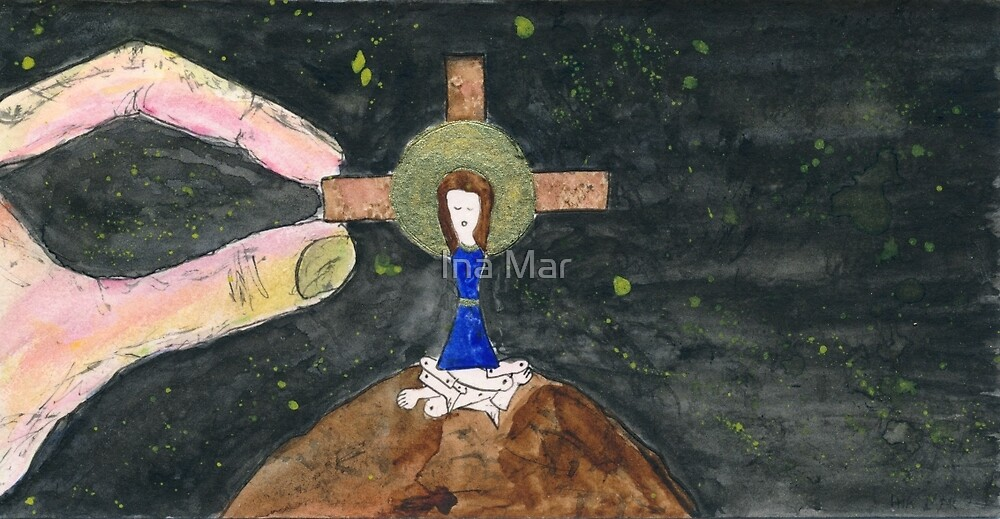 Self on Cross - Mary and Paul Paul and Mary 20 by Ina Mar