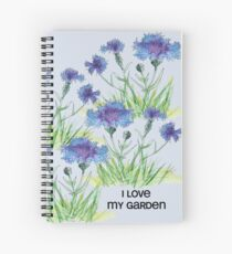 Cornflower love my garden Spiral Notebook