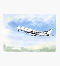 Airplane Flight Ink Watercolor Photographic Print