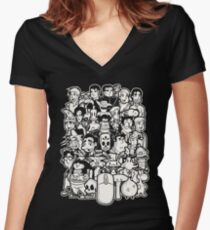 Point and Click Women's Fitted V-Neck T-Shirt