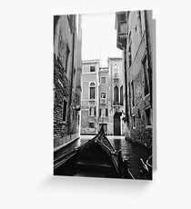 Venice In A Gondola Greeting Card