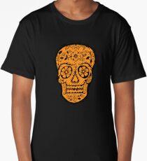 Sugar Skull SF Halloween on blk Long T-Shirt