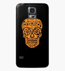 Sugar Skull SF Halloween on blk Case/Skin for Samsung Galaxy
