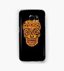 Sugar Skull SF Halloween on blk Samsung Galaxy Case/Skin