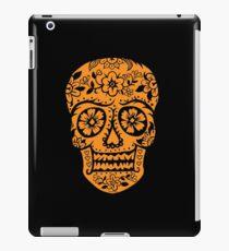 Sugar Skull SF Halloween on blk iPad Case/Skin