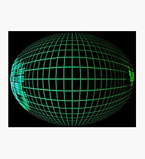 Green abstract globe silhouette. Photographic Print