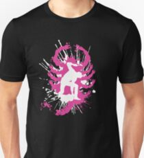 My hands are dirty Pink and White Unisex T-Shirt