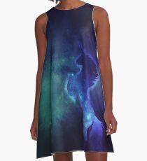 Nebula Galaxy Unicorn in Space A-Line Dress