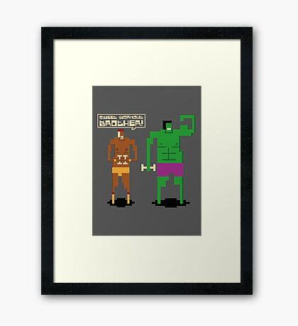 Sweet Workout Framed Print