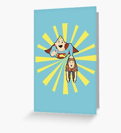 Super Sloth Greeting Card