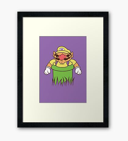 You're going to need a bigger warp pipe Framed Print