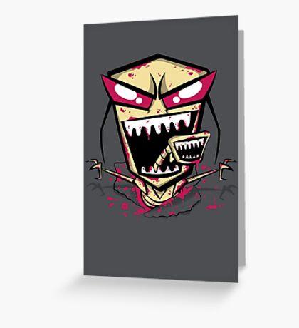 Chest burst of Doom Greeting Card