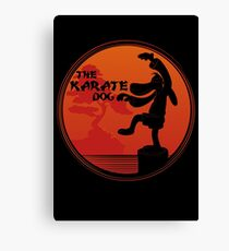The Karate Dog  Canvas Print