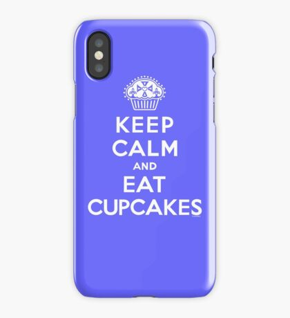 Keep Calm and Eat Cupcakes - white type iPhone Case