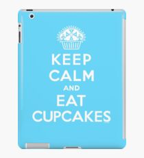 Keep Calm and Eat Cupcakes - white type iPad Case/Skin
