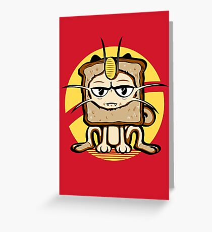 Meowth Breading Greeting Card