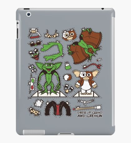 Dress up Gizmo and Gremlin iPad Case/Skin
