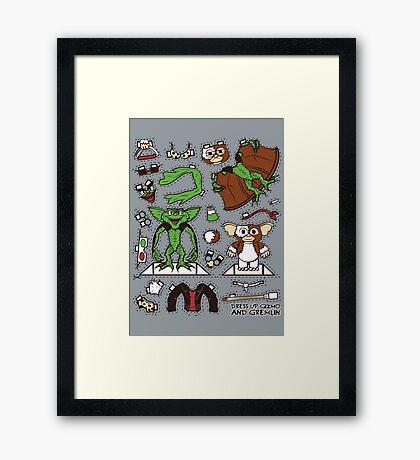 Dress up Gizmo and Gremlin Framed Print