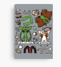 Dress up Gizmo and Gremlin Canvas Print