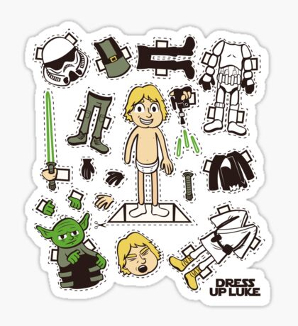 Dress up Luke Sticker