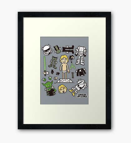 Dress up Luke Framed Print