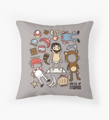 Dress up Mario Throw Pillow