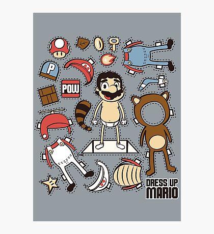 Dress up Mario Photographic Print