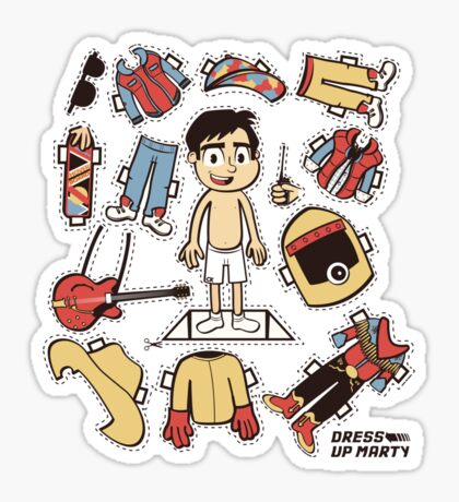 Dress up Marty Sticker