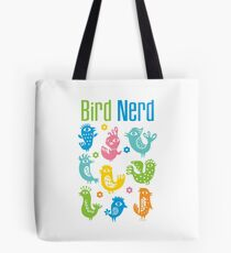 Bird Nerd - white Tote Bag