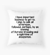 Shadowhunters.  The infernal devices. Throw Pillow
