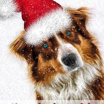 Austrailian Shepherd Santa by SalonOfArt