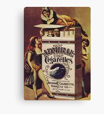 Vintage poster - Admiral Cigarettes Canvas Print