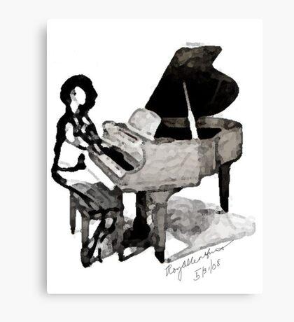 Roy Al Piano for Sarah Vaughn Canvas Print