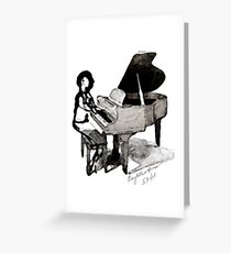 Roy Al Piano for Sarah Vaughn Greeting Card