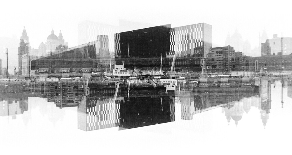 Liverpool Pier Head Double Exposure by AWilsonPhoto