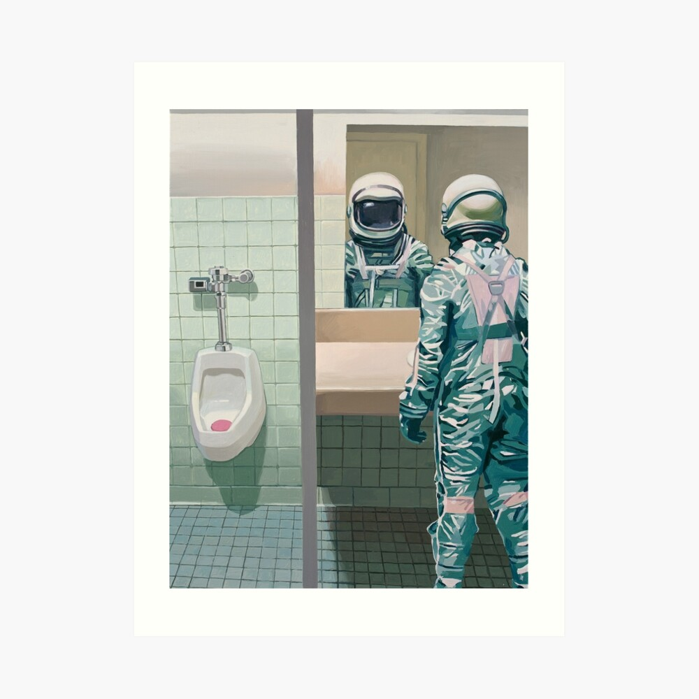 The Men's Room Art Print