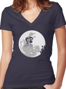 Dib and the E.T Women's Fitted V-Neck T-Shirt