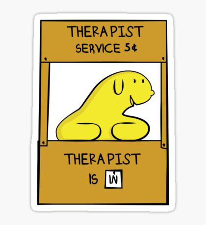 Hand Bananas Therapist Service Sticker
