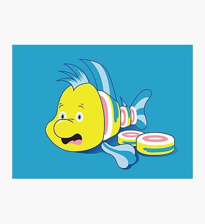 Flounder Sushi Photographic Print