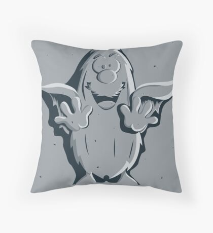 Captain Caveman Frozen So-lid Throw Pillow