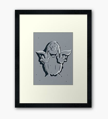 Captain Caveman Frozen So-lid Framed Print