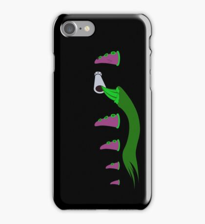 Evolution of Purple Tentacle Green Ooze iPhone Case/Skin