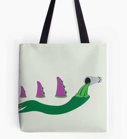 Evolution of Purple Tentacle Green Ooze Tote Bag