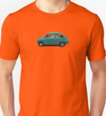Fish Driving Blue Car Surreal Collage T-Shirt