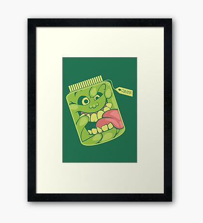 Slimer in a Jar Framed Print