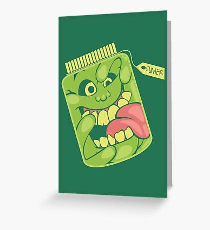 Slimer in a Jar Greeting Card