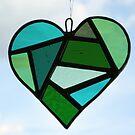 """Love Heart """"Greens"""" by Neil Witney"""
