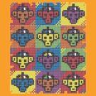 Monkey Blista Pattern Mosaic by chachipe